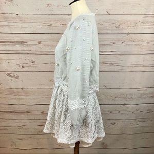 Vintage Dresses - The P&K Pearl & Lace Flower Crop Top Tweed Dress